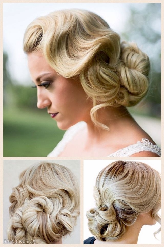 Finger Wave With Chignon | Finger Wave Hairstyles | Pinterest In Latest Finger Waves Long Hair Updo Hairstyles (View 8 of 15)