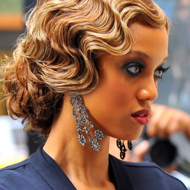 Finger Waves And Pin Curls!! | Long Hair, Don't Care | Pinterest Inside 2018 Finger Waves Long Hair Updo Hairstyles (View 9 of 15)