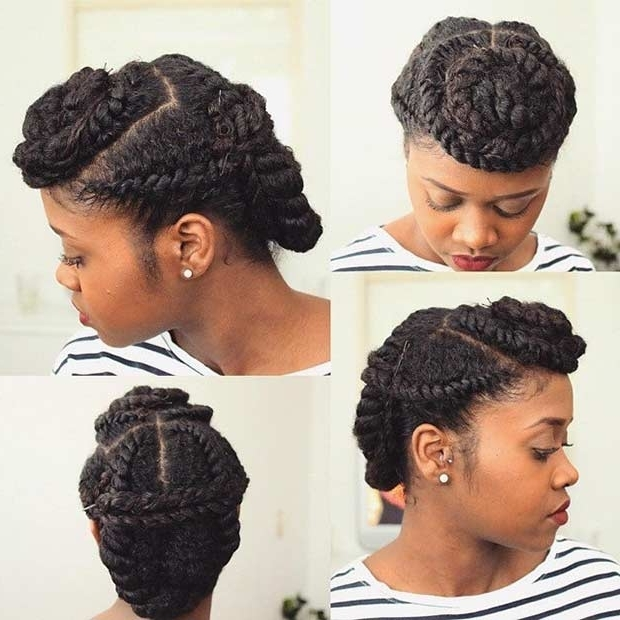 Flat Twist Hairstyles For Natural Hair 21 Gorgeous Flat Twist In Most Up To Date Twisted Updo Natural Hairstyles (View 5 of 15)