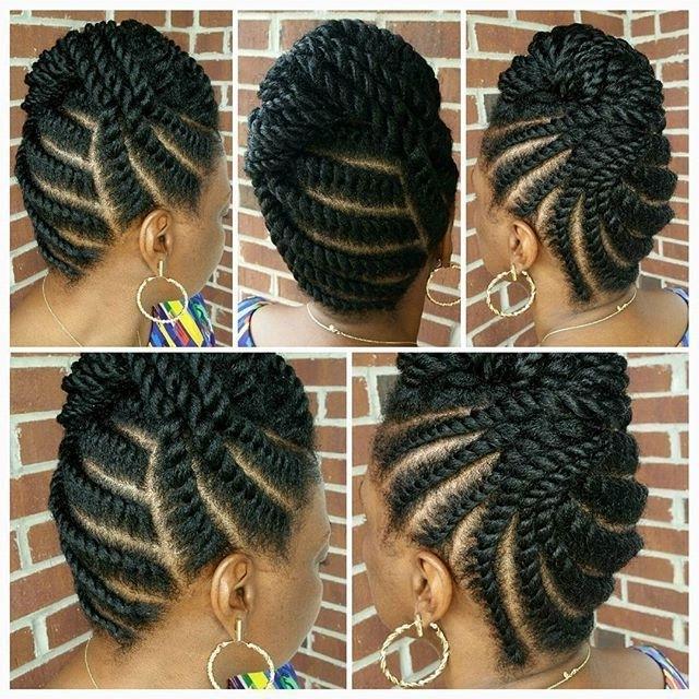Flat Twist Updo … | Pinteres… Regarding 2018 Natural Twist Updo Hairstyles (View 5 of 15)