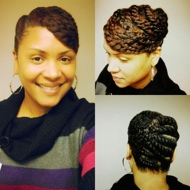Flat Twist Updo | Two Strand Twists Updo. Cute (View 4 of 15)