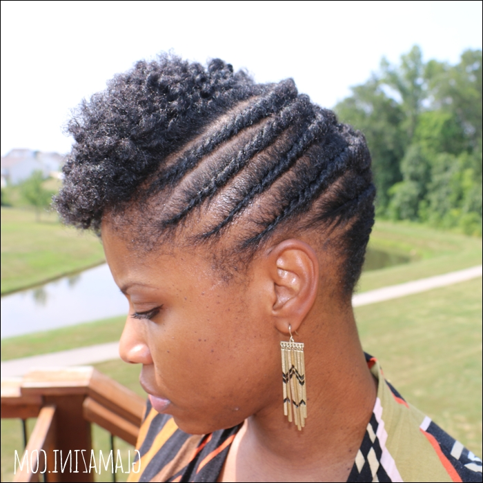 Flat Twistout Updo W/ Twisted Bangs • Natural Hairstyle Tutorial For Most Current Updo Twist Out Hairstyles (View 2 of 15)