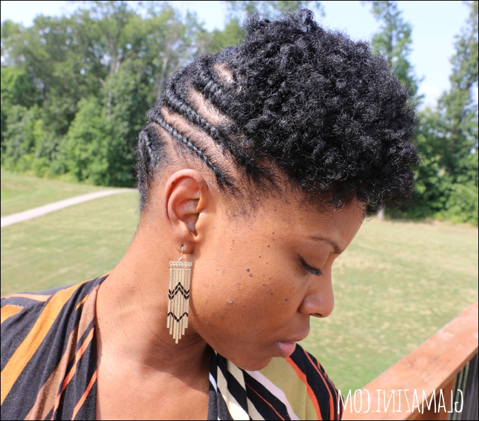 Flat Twistout Updo W/ Twisted Bangs • Natural Hairstyle Tutorial With Newest Updo Twist Out Hairstyles (View 11 of 15)