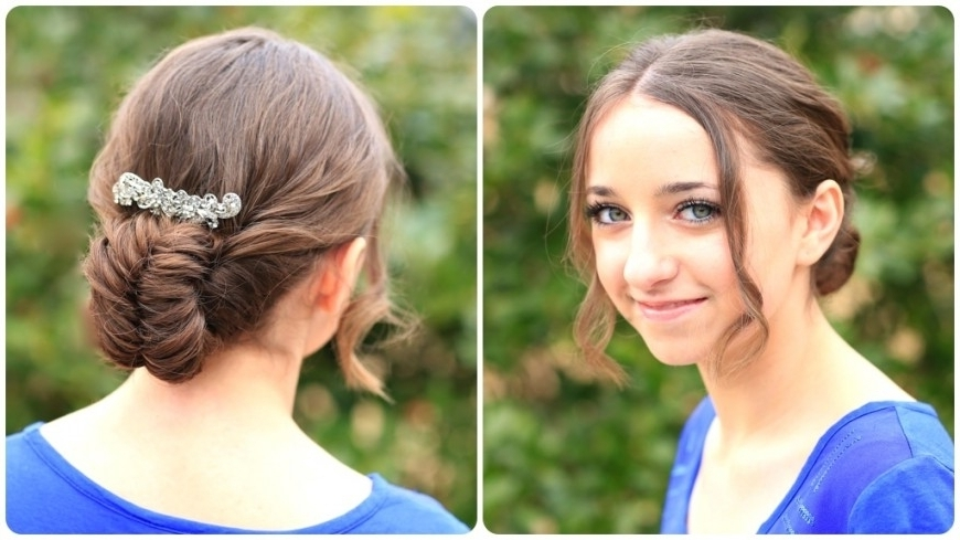 Flipped Fishtail Braid Updo | Prom Hairstyles | Cute Girls Inside Best And Newest Cute Girls Updo Hairstyles (View 6 of 15)