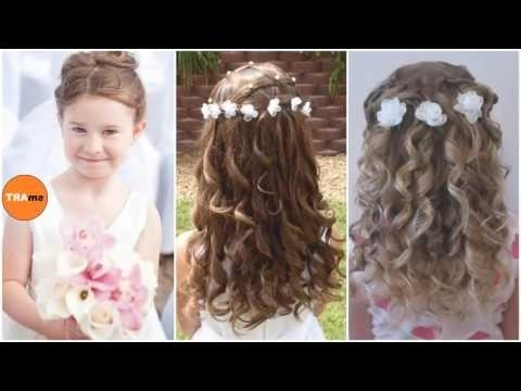 Flower Girls Hairstyles – Quick And Easy Little Girl's Updo In Most Popular Easy Updo Hairstyles For Kids (View 11 of 15)