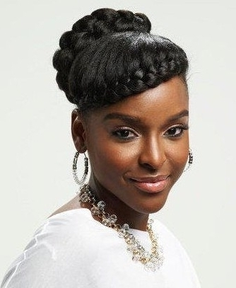 Formal Hairstyles For Black Women Updos And Long Wavy Black Updo Within 2018 Updo Hairstyles For African American Long Hair (View 8 of 15)