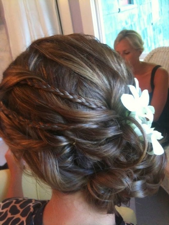 Found On Weddingbee Share Your Inspiration Today!   Long Hair Regarding Most Popular Wedding Updos For Fine Thin Hair (View 12 of 15)