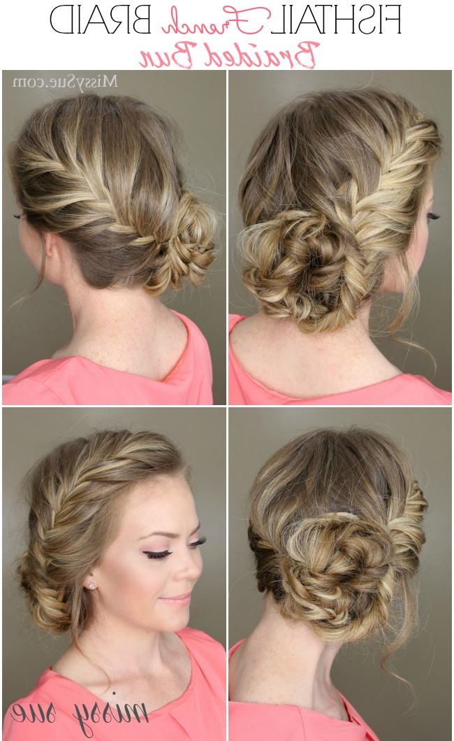 French Braid Braided Bun In Current Braided Bun Updo Hairstyles (View 10 of 15)