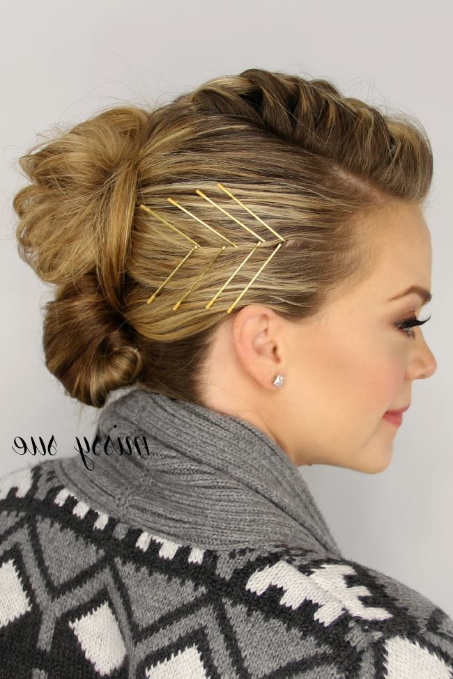 French Braid Updo With Newest Updo Hairstyles With French Braid (View 13 of 15)