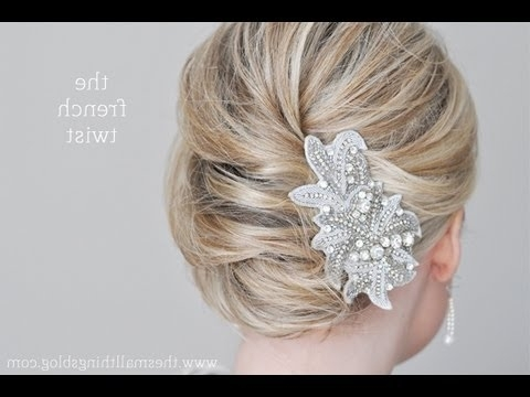 French Twist Tutorial – Youtube With Regard To Most Current French Twist Updo Hairstyles For Short Hair (View 8 of 15)