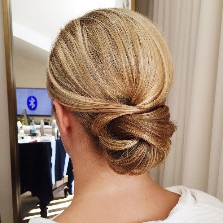 Get Inspiredthis Fabulous Simple Low Bun Wedding Hairstyle   Low In Most Up To Date Low Bun Updo Wedding Hairstyles (Gallery 9 of 15)