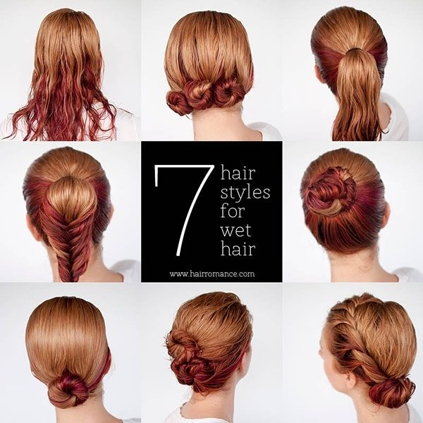 Get Ready Fast With 7 Easy Hairstyle Tutorials For Wet Hair – Hair Regarding Most Popular Wet Hair Updo Hairstyles (Gallery 1 of 15)
