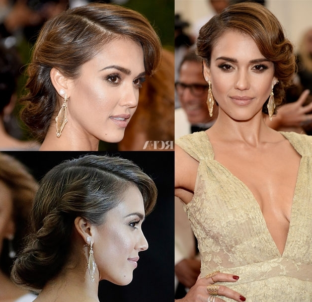 Get The Look: Jessica Alba's 50S Met Gala Updo | Updo, Weddings And Pertaining To Most Recently 50S Hairstyles Updos (Gallery 6 of 15)