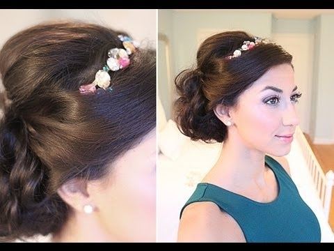 Glam Holiday Side Updo – Youtube Throughout Most Recent Luxy Updo (Gallery 4 of 15)