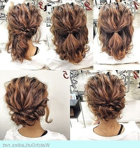 Got Curly Hair And Don't Know How To Style Them? Having Curls Is So For Most Popular Homecoming Updo Hairstyles For Short Hair (Gallery 2 of 15)