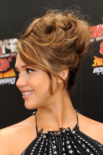 Hair Cut Styles And Tattoo Designs: Jessica Alba Funky Messy Updo Intended For Most Popular Funky Updo Hairstyles For Long Hair (View 8 of 15)