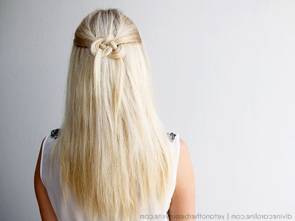 Hair How To: Celtic Knot Half Updo | More Intended For Most Recent Straight Half Updo Hairstyles (View 6 of 15)