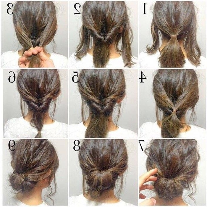Hair Pictorial | Hair Pictorial | Pinterest | Hair Style, Makeup And Regarding Newest Easy Do It Yourself Updo Hairstyles For Medium Length Hair (View 12 of 15)