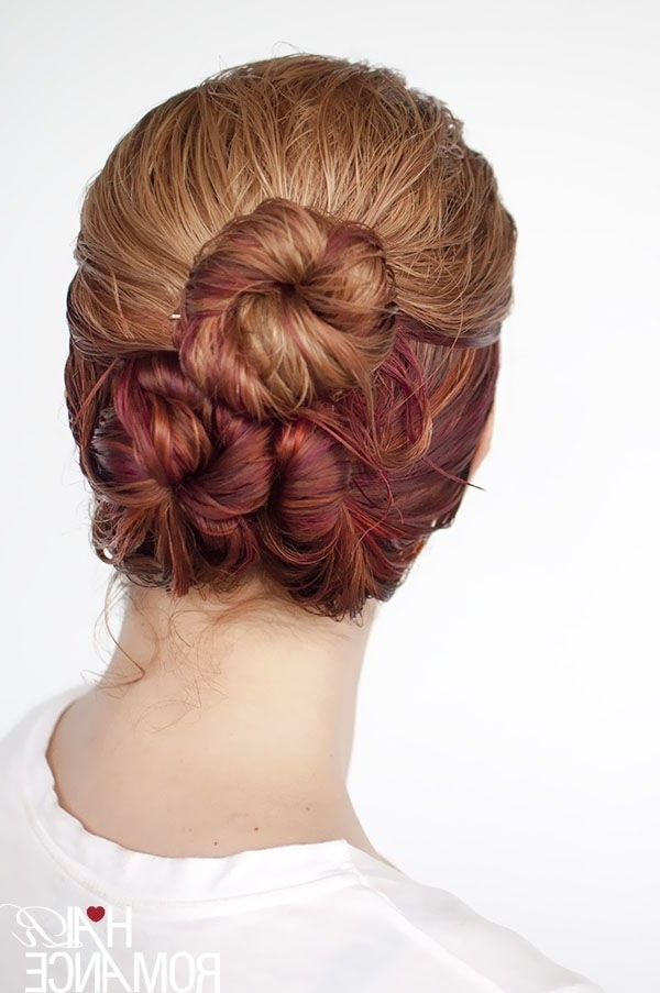 Hair Romance – Wet Hair Styles – The Loose Triple Bun | ## Nov 17 To Pertaining To Most Current Wet Hair Updo Hairstyles (View 6 of 15)
