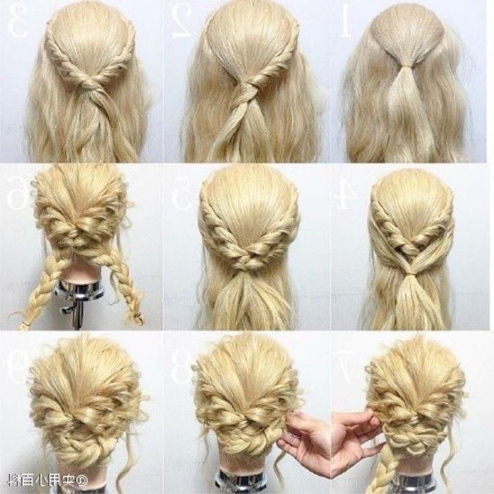 Hair Tutorial | Braids | Pinterest | Tutorials, Hair Style And Prom Within Most Current Diy Updo Hairstyles For Long Hair (View 6 of 15)