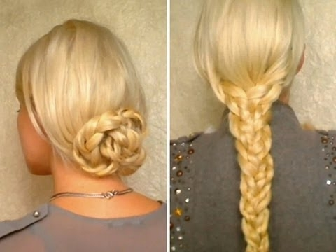 Hair Tutorial For Long Hair Easy Heatless Hairstyles With Braids Throughout Latest Easy Everyday Updo Hairstyles For Long Hair (View 14 of 15)