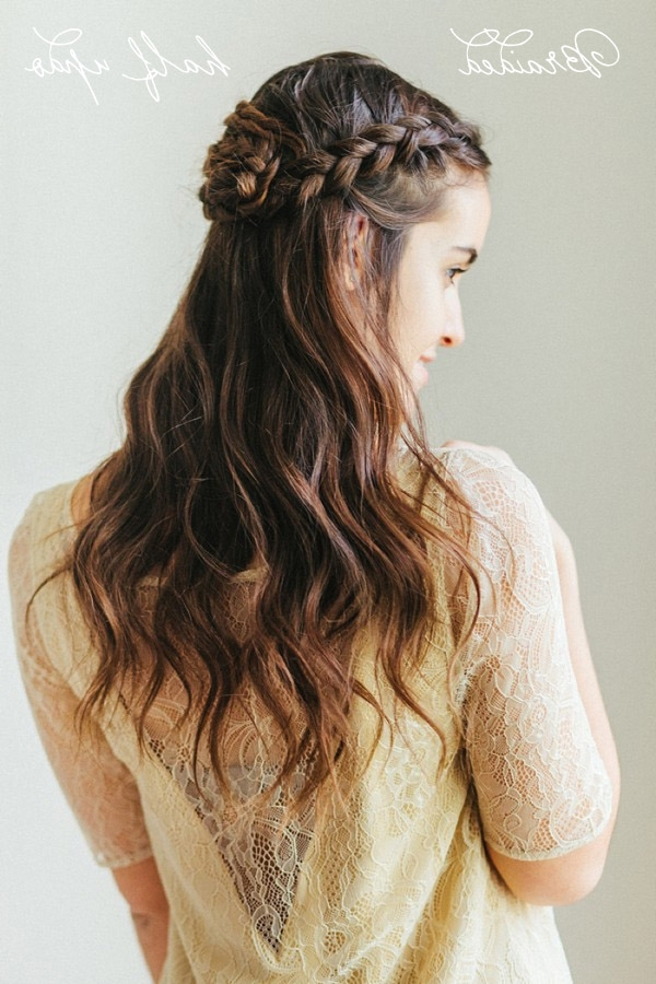 Hair Tutorial: How To Do A Braided Half Updo – Belle & Chic With Most Recent Braided Half Updo Hairstyles (View 5 of 15)