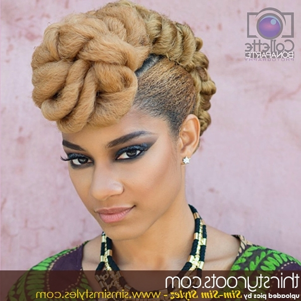 Hair Updo Hairstyles Regarding Most Popular Black Natural Hair Updo Hairstyles (View 14 of 15)
