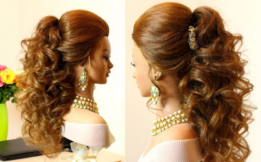 Hair Updos For Long Curly Hair Curly Bridal Hairstyle For Long With Most Current Long Curly Hair Updo Hairstyles (View 10 of 15)