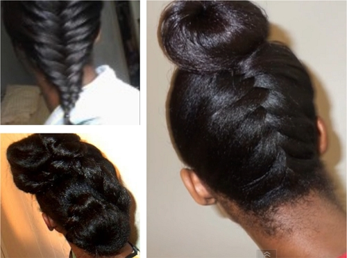 Hairstyle Ideas For Long Relaxed Hair Or Flat Ironed Natural Hair Pertaining To Most Up To Date Updo Hairstyles For Permed Hair (View 5 of 15)