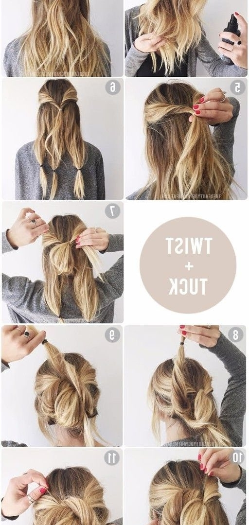 Hairstyle Tutorials For Your Next Imposing Diy Updos Medium Hair Regarding Most Popular Easy Do It Yourself Updo Hairstyles For Medium Length Hair (View 14 of 15)