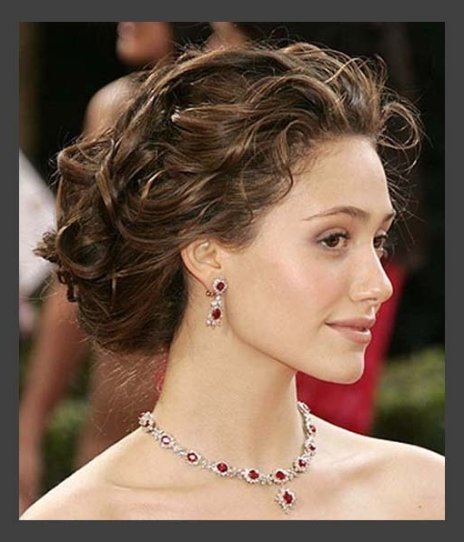 Hairstyles, Classic Sort Medium Wedding Hair Updos: Simple Style Of Pertaining To Most Recently Curly Updo Hairstyles For Medium Length Hair (View 12 of 15)