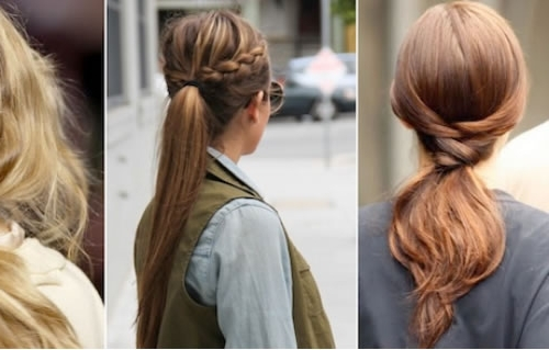 Hairstyles For Medium Hair – Cute & Trendy Hairstyles For Medium With 2018 Ponytail Updo Hairstyles For Medium Hair (View 9 of 15)