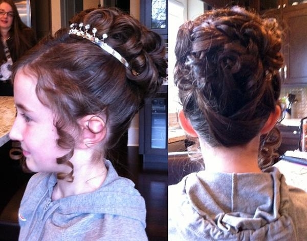 Hairstyles For Thick Hair For Weddings And Medium Hair Little Girl For Most Recently Little Girl Updo Hairstyles (View 9 of 15)