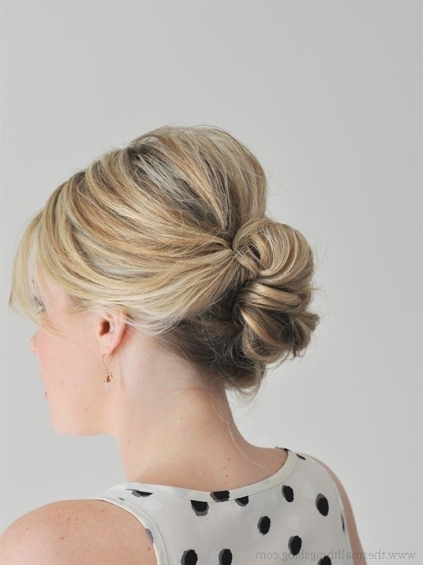 Hairstyles For Thin Hair: 39 Hairstyles That Add Volume & Thickness Regarding Most Up To Date Updos For Medium Thin Hair (View 14 of 15)
