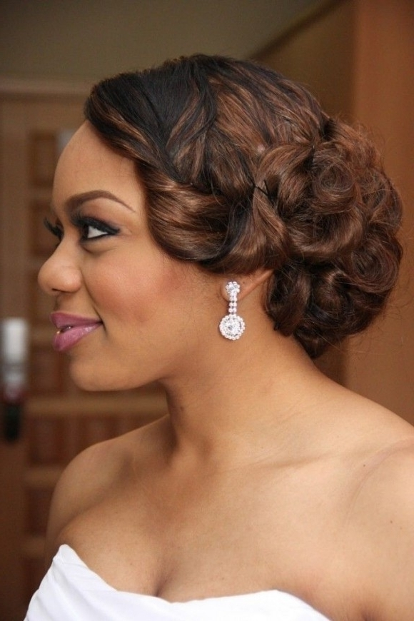 Hairstyles Ideas : Black Wedding Hairstyles Half Up Half Down Within With Newest African American Updo Wedding Hairstyles (View 14 of 15)