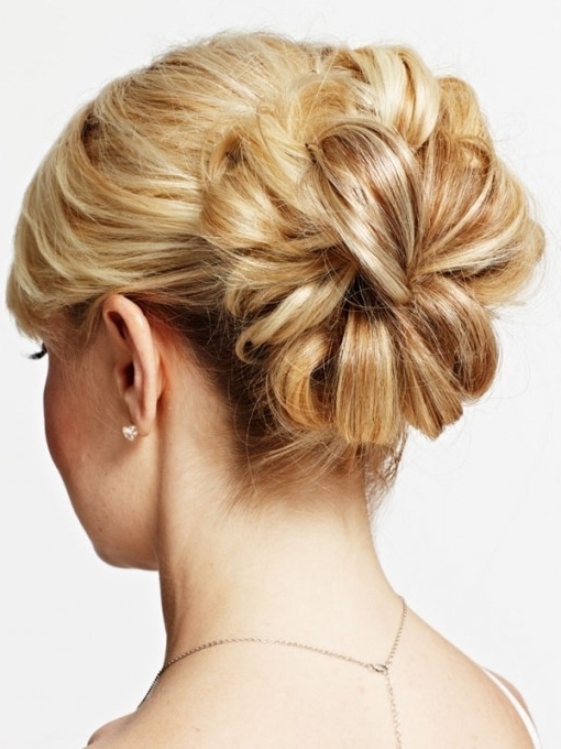 Hairstyles Updos For Short Hair Intended For Bridesmaid Hairstyles With Most Recent Bridesmaid Hairstyles Updos For Short Hair (View 9 of 15)