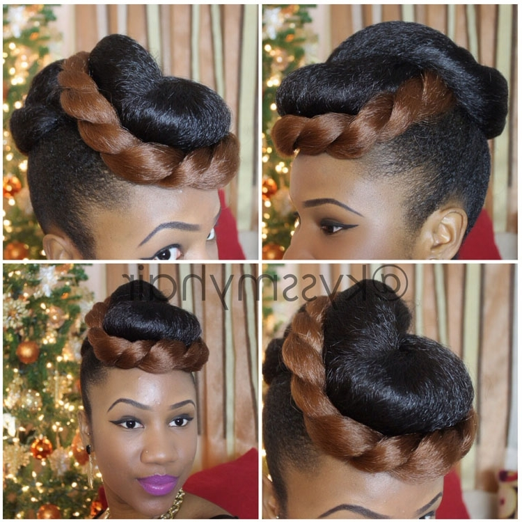 Hairstyles With Kanekalon Hair Satisfying | Hair Time | Pinterest Pertaining To Most Popular Natural Hair Updo Hairstyles With Kanekalon Hair (View 4 of 15)
