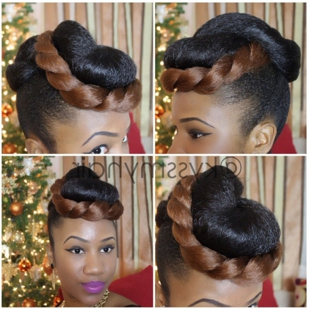 Hairstyles With Layers And Bangs ~ Hair Is Our Crown For For Current Updo Hairstyles Using Kanekalon Hair (View 5 of 15)