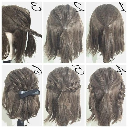 Half Up Hairstyle Tutorials For Short Hair, Hacks, Tutorials | Easy Regarding Most Recent Half Updo Hairstyles For Short Hair (View 9 of 15)