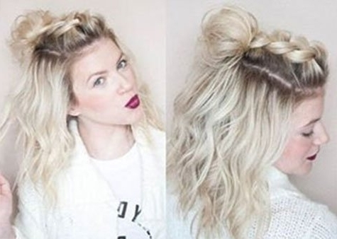 Half Up Hairstyle Tutorials For Short Hair, Hacks, Tutorials Throughout 2018 Half Updo Hairstyles For Short Hair (View 5 of 15)