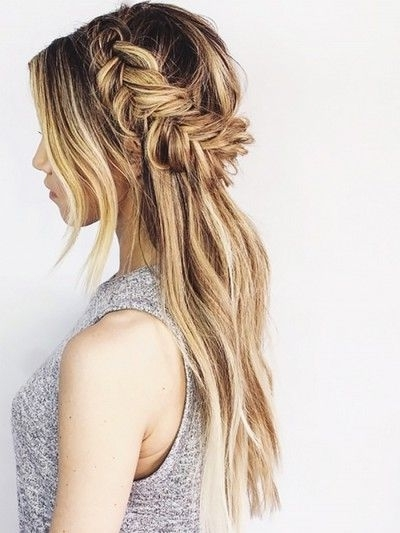 Half Up Half Down Fish Tail Braid Hairstyle Ideas (14) | Trendy Mods With Latest Braided Half Updo Hairstyles (View 7 of 15)