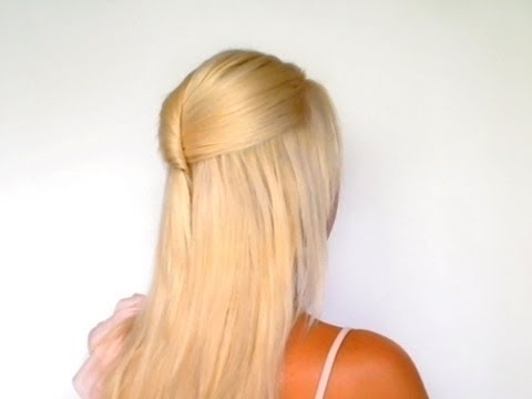 Half Up Half Down Hairstyles For Medium Long Hair Tutorial Elegant In Most Recently Straight Half Updo Hairstyles (View 8 of 15)