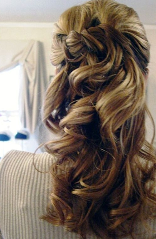 Half Up Half Down Hairstyles To Make You Look Perfect Inside 2018 Half Curly Updo Hairstyles (View 10 of 15)