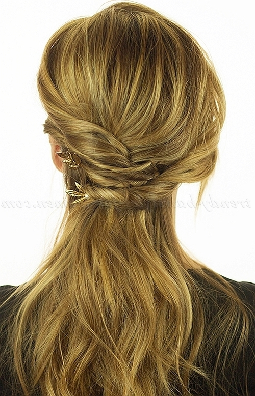 Half Up Half Down Hairstyles – Twisted Half Updo | Trendy Hairstyles Within Most Recently Updo Half Up Half Down Hairstyles (View 8 of 15)