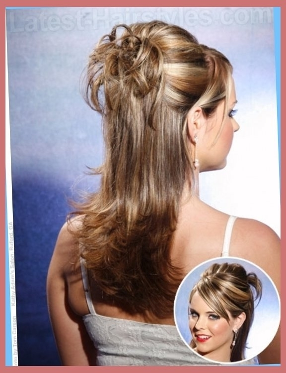 Half Up Half Down Prom Hairstyles Pictures And How To's Regarding Pertaining To Most Recent Partial Updo Hairstyles For Long Hair (View 8 of 15)