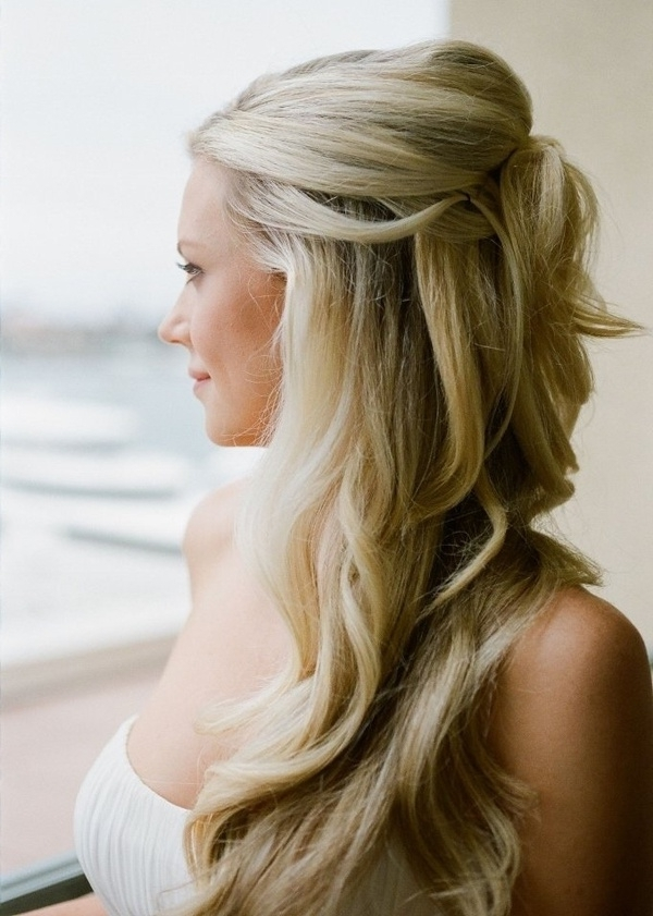 Half Up Wedding Hair Is The Perfect Style For Every Bride, And In Most Up To Date Wedding Half Updo Hairstyles (View 9 of 15)