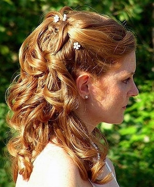 Half Up Wedding Hairstyles – Half Up Half Down Bridal Hairstyle Regarding Recent Half Updos For Mother Of The Bride (View 15 of 15)
