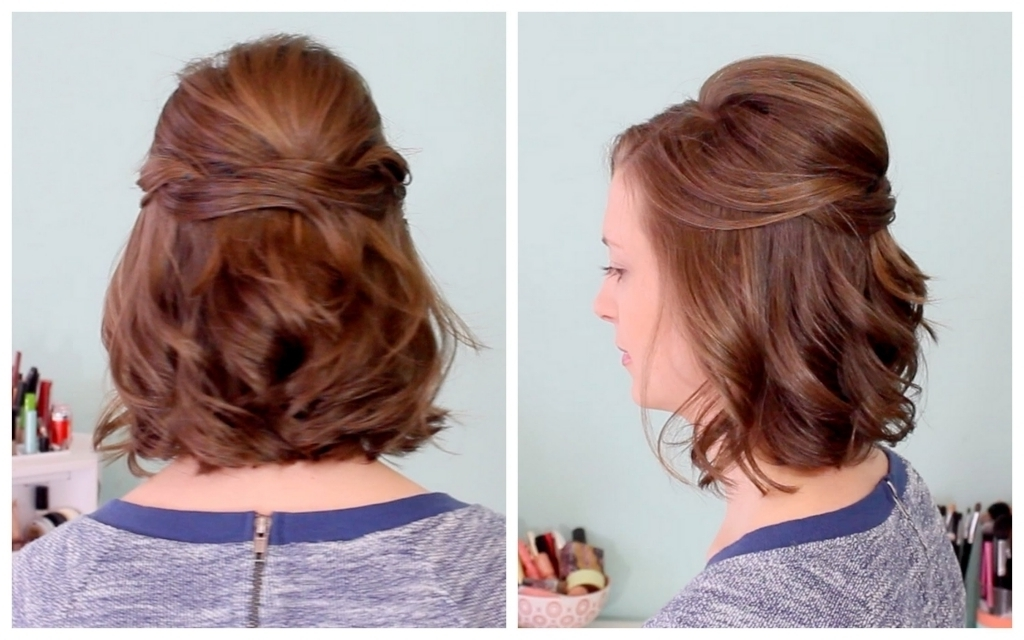 Half Updo Hairstyles For Medium Length Hair Quick Half Up Hairstyle Regarding Most Popular Half Updos For Shoulder Length Hair (View 11 of 15)