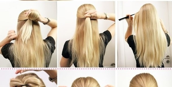 Half Updo With A Surprise | Beauty Zone With Regard To Recent Diy Half Updo Hairstyles For Long Hair (View 2 of 15)