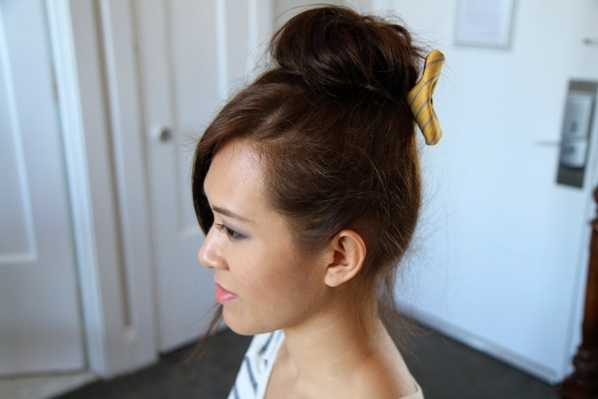 High Buns Cute Girls Hairstyles Teased For Long Hair Page | Medium Within Recent Teased Updo Hairstyles (View 8 of 15)